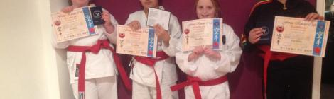 Romford Karate Kids grade to Red